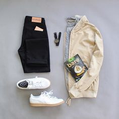 Holiday weekend has me going casual a day early this week.  Weather looks to be awesome so it should be a good one.  I'm looking forward to it!    Jacket: @niftygenius   Shirt: @americanragofficial   Snacks: @baresnacks   Wallet: @qpcollections   Denim: @loyalcollective   Socks: @vybesocks   Watch: @mnmlstwatchco   Shoes: @adidasoriginals   ************************************************************************************************************************************