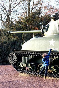 WW2 Sherman tank monument near Normandy.