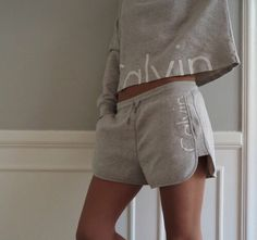 Calvin Klein Light Grey Shorts and Matching Top