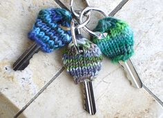 """I freakin' LOVE this pattern."" -Tata - - I invented this simple key cozy pattern to show my mom the benefits of Magic Loop when she asked..."