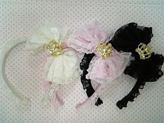 Angelic Pretty Petit Crown Lacy Head Bow