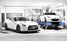 Nissan GT-R, tuning, Nissan 370z, lift, garage, sportcars