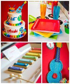 Baby Jam Musical Themed 1st Birthday Party via Kara's Party Ideas…