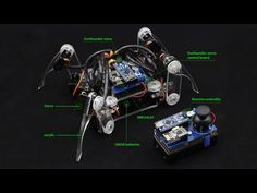 Arduino Spider Quadruped Robot Kit with Servo Control Board - YouTube