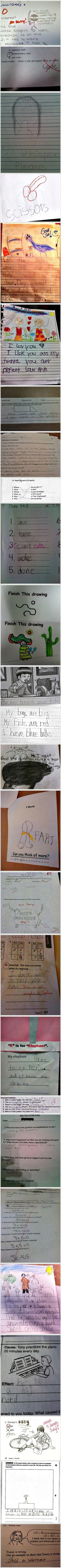 Funny School Work Answers – 27 Pics