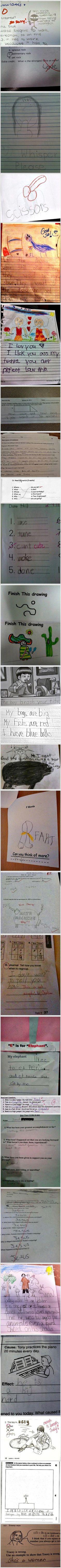 Funny School Work Answers – 27 Pics