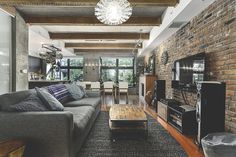 Image result for contemporary industrial home design