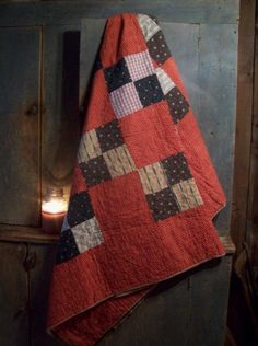 P r i m Q u i l t Old Quilts, Antique Quilts, Vintage Quilts, Scrappy Quilts, Patch Quilt, Quilt Blocks, Civil War Quilts, Quilting Projects, Quilting Tips