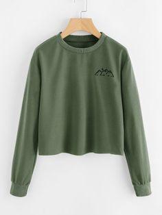 1230e7220 Graphic Print SweatshirtFor Women-romwe Cute Sweatshirts