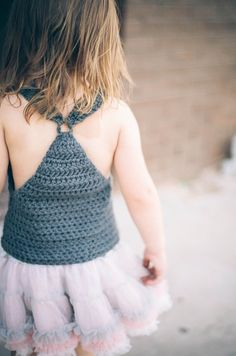 Tip Top Tank     H hook   Medium Worsted   6  stitches/3rows=2inches         18-24months (2T,3T,4T)...