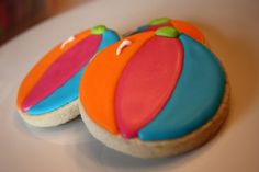 Beach Ball Pool Party Summer Cookies  One by WhimsicalOriginalsDB, $40.00