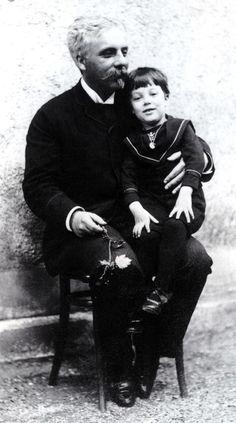 Gabriel Fauré with his son Emmanuel Fauré-Fremiet.