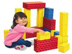 Jumbo Cardboard Blocks - Starter Set at Lakeshore Learning Preschool At Home, Toddler Preschool, Toddler Activities, Steam Activities, Cause And Effect Activities, Classroom Layout, Classroom Ideas, Kids Blocks, Lakeshore Learning