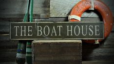 Custom Distressed The Boat House Sign  Rustic by TheLiztonSignShop