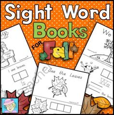 Get Ready for Fall!  ! Enter for your chance to win 1 of 2.  Sight Word Books for Fall (Paste, Trace, and Write) (30 pages) from TeacherTam on TeachersNotebook.com (Ends on on 9-10-2014)  Fall is on its way!  Be ready with these sight word books for PreK and Kinder!  This set of books has students paste, trace, AND write each word.  It has 3 different books, all with repetative text and pictures for unfamiliar words.