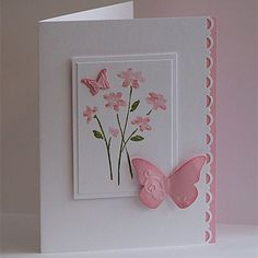 Another gorgeous (but very simple) butterfly card.
