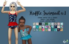Ruffle Swimsuit v.1 - Deetron Sims