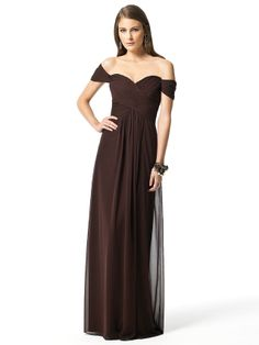 Fresh and romantic, let Dessy 2844 Bridesmaid dress make your bridal party look lovely and in tune with your fabulously planned wedding. The drop shoulders hug the upper arms while a sweetheart neckline begins the short bodice of the empire waist fashion. #timelesstreasure