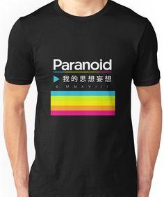 Paranoid (Vaporwave Polaroid Logo) Unisex T-Shirt Aesthetic T Shirts, Retro Aesthetic, Aesthetic Clothes, Vaporwave Clothing, Vaporwave Fashion, Vaporwave Shirt, Cool Hoodies, Polaroid, Character Outfits