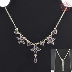 Amethyst Stone Fancy Design 925 Sterling Silver Necklace NK2956…