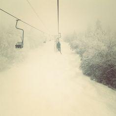 In the clouds  #singlechair #madriverglen