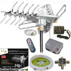Lava Hdtv Digital Rotor Amplified Outdoor Tv Antenna Hd Uhf Vhf Fm Cable (Ship From Usa) Diy Tv Antenna, Indoor Digital Tv Antenna, Outdoor Tv Antenna, Television Antenna, Cable Television, Long Range Tv Antenna, Samsung Televisions, Internet Tv, Essen