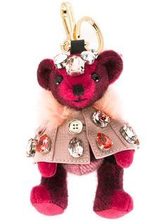 Burberry embellished bear keyring