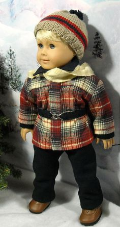 1950s Snowsuit Outfit for AG Boy doll by SugarloafDollClothes $50.00