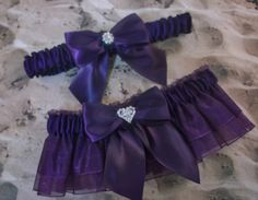 Plum Eggplant Purple Satin Organza Rhinestone Heart by jbconaway, $24.99