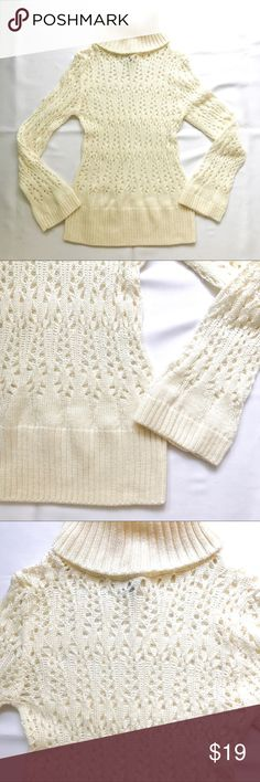 Charlotte Russe crochet sweater Charlotte Russe crochet cream sweater Charlotte Russe Sweaters Cowl & Turtlenecks