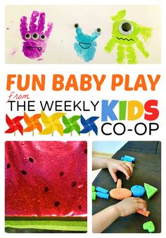 Awesome Activities for Babies from The Weekly Kids Co-Op at B-InspiredMama.com