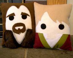 The Hobbit pillow, Bilbo, Thorin, Gandalf, cushion, Decorative pillow, Lord of the Rings