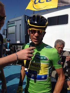 Alberto Contador before start stage 4 Dauphine
