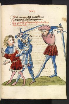 Parzival, by Wolfram von Eschenbach Medieval Weapons, Medieval Art, Medieval Manuscript, Illuminated Manuscript, Wolfram Von Eschenbach, Native Son, Uk History, Dark Ages, Middle Ages