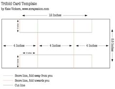 Tri Fold Card Template-- tutorial
