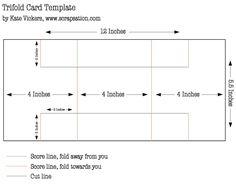 Tri-fold card tutorial template