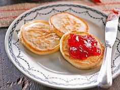 Pancakes or pikelets are great with your child's favourite jam.