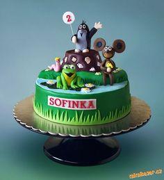 Krteček a kamarádi Cake Decorating Piping, Baby Cakes, Cake Cookies, Birthday Cakes, Cake Ideas, Desserts, Kids, Food, Birthday