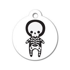 Skeleton - Halloween Pet Tag #holidays #dogtagsfordogs #pettags #dogaccessories #dogfashion #dogs #pets #etsy #etsyfinds #skeleton #halloween