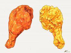 Meat Food Illustration - Big World Food Sketch, Food Cartoon, Watercolor Food, Kawaii Doodles, Food Painting, Food Drawing, Food Illustrations, Cute Food, Food Coloring