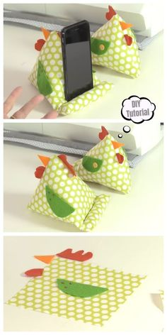 DIY Chicken IPAD Stand Free Sewing Pattern + Video – Claire C. Stand per cucire IPAD di pollo fai da te + video gratuiti – … Sewing Hacks, Sewing Tutorials, Sewing Crafts, Sewing Tips, Diy Sewing Projects, Diy Gifts Sewing, Scrap Fabric Projects, Sewing Patterns Free, Free Sewing