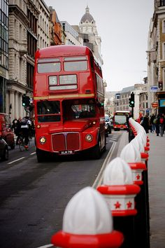 Red double-decker bus,London
