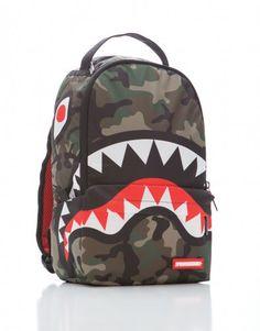 Brand New SPRAYGROUND Japan Camo Shark Deluxe Bag Backpack