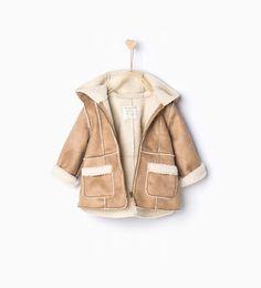 Fleece jacket with hood-Coats-Baby girl-Baby | 3 months - 3 years-KIDS | ZARA United States