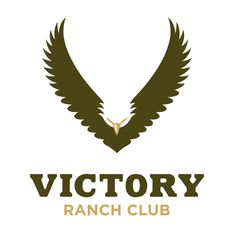 "Logo Inspirations - ""Victory Ranch Club"" *You can't go wrong using an eagle on a logo they are majestic and convey power and respect, this logo (eagle) would fit perfectly on any football helmet. *** Me encanta la forma del águila excelente idea para logos deportivos."