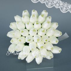 White Lifelike Tulips Wedding Bouquet For Bridal Flowers Silk Beautiful Artificial Bridal Bouquet Buque Noiva Ramos De Novia
