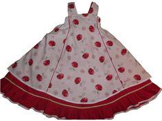 Schürzenkleid 122/128 Einschulungskleid von design.geddert.net auf DaWanda.com