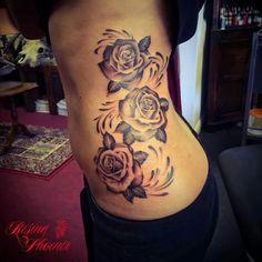 Amazing roses tatt. Rising phoenix Leighton buzzard