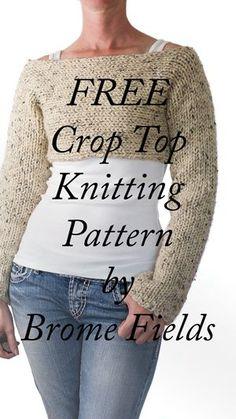 Super cute FREE Crop Top Sweater Knitting Pattern!