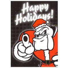 Amazon.com: Georgia Bulldogs Happy Holidays Greeting Cards (10 Pack)
